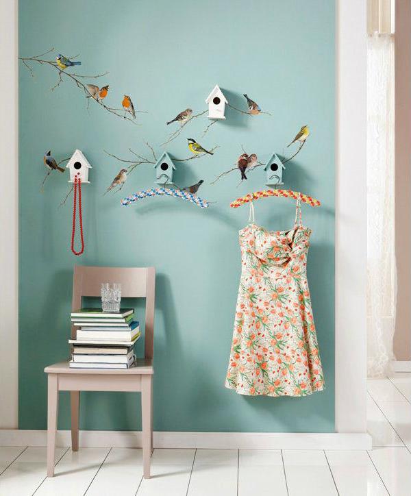 Wandsticker mit Vogel-Motiv