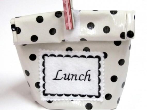 Abwaschbare Lunchbox aus Wachstuch