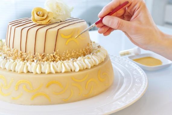 Colored Marzipan Cake