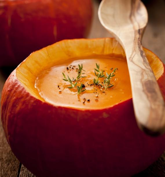 Rezept für cremige Kürbissuppe