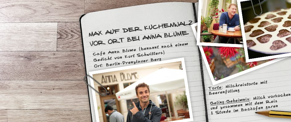 Max auf der KuchenwalzVor Ort bei Anna Blume
