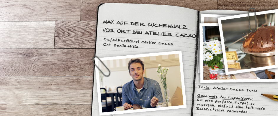 Max auf der KuchenwalzZu Besuch im Atelier Cacao