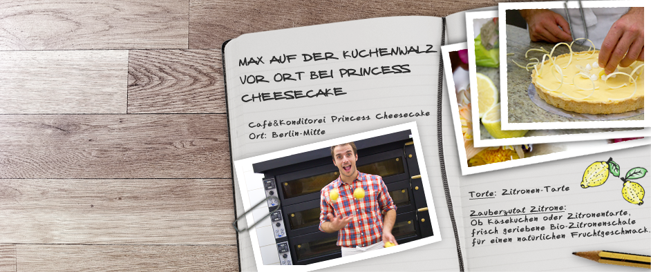 Max auf der KuchenwalzVor Ort bei Princess Cheesecake