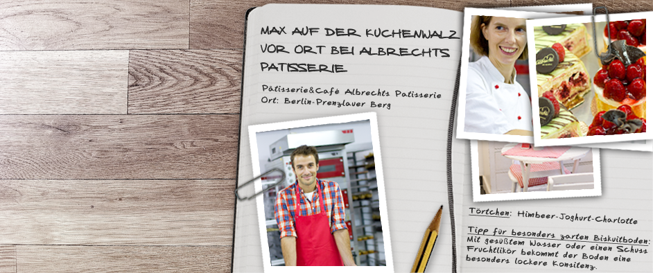 Max auf der KuchenwalzVor Ort bei Albrechts Patisserie