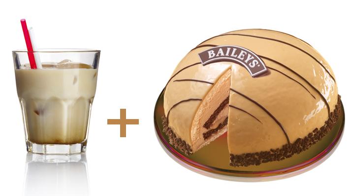Silvester-Cocktail zur Baileys-Torte