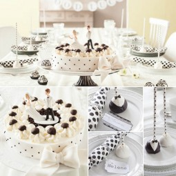 Hochzeit mit Torte nach Schwarz-Wei-Wlder-Art