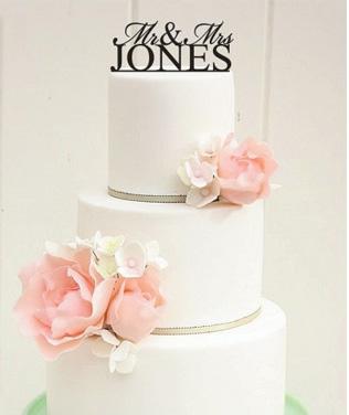 Torte-Hochzeit-... M Monogram Wedding Cake Toppers