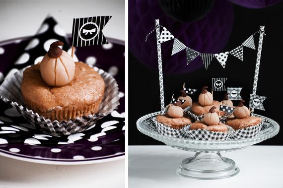 Muffins halloweenartig dekorieren