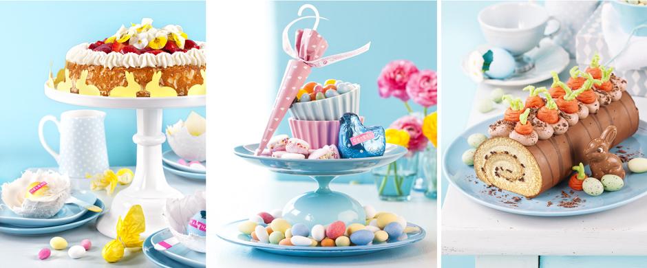 Tolle Ideen zu Ostern!Torte und Deko als farbenfrohe Akzente