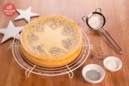 Sternzauber für den Kuchen zu Weihnachten