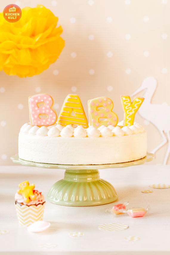 babyparty torte und dekotipps in strahlendem gelb. Black Bedroom Furniture Sets. Home Design Ideas