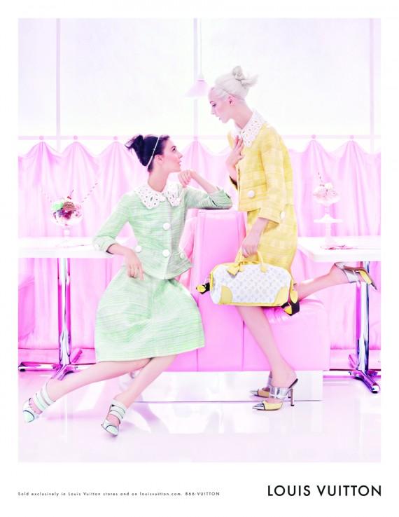 Die pastellige Farbwelt einer Café-Eisdiele