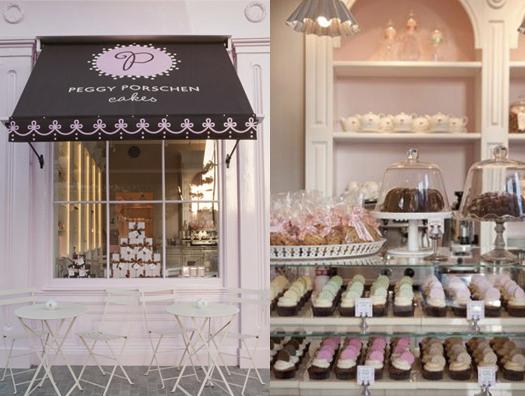 Kuchen im Schaufenster von Peggy Porschen in London