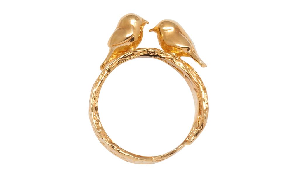 Ring mit verliebtem Vogelpaar
