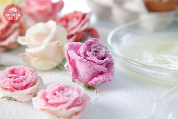 Kandierte Rosen selber machen