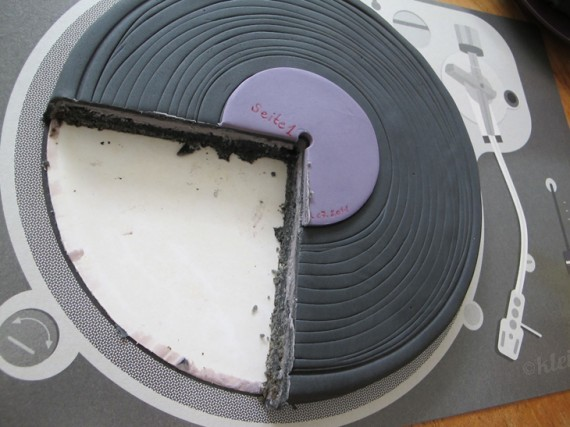 Kuchen in Schallplatten-Optik