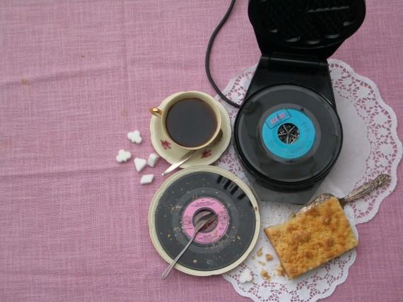Schallplatten deko f r musik kuchen s es geb ck f r for Kuchen wand platte