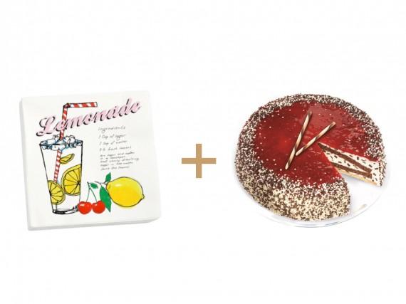 Feinste Sahne Stracciatella Kirsch-Torte mit selbstgemachter Limonade