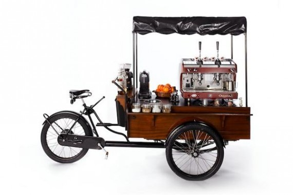 Rollendes Café Fahrrad