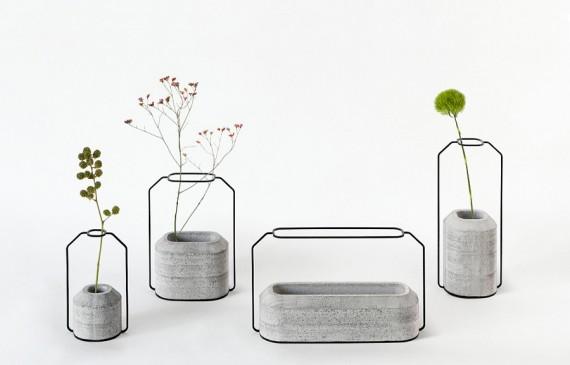 Blumenvase aus Beton