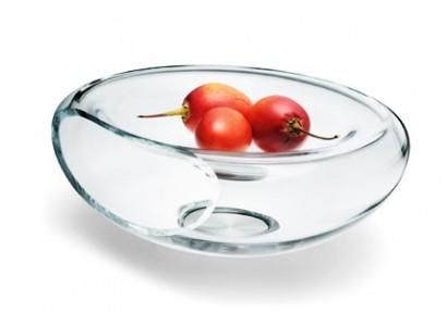Schicke Obstschale aus Glas