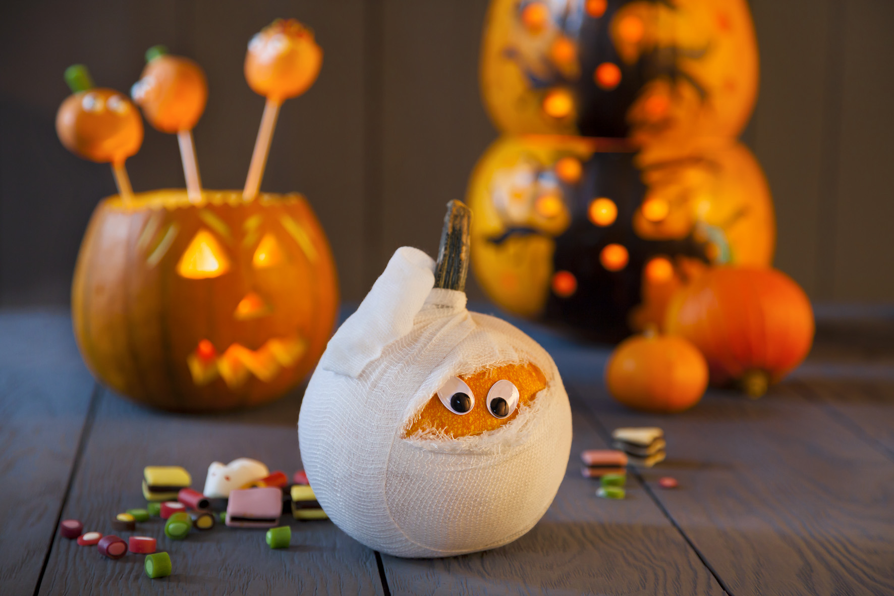Halloween Deko Selber Machen Kürbismumie
