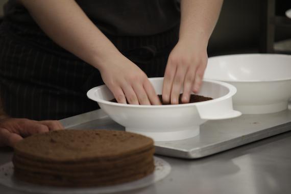 Kuppelform für Schokoladentorte