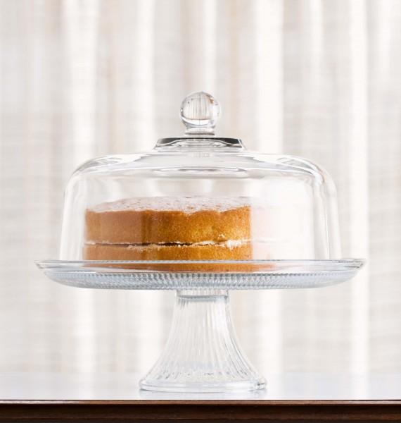 Glasglocke für Kuchen