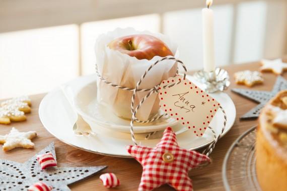 Willkommensgruß Advents-Kaffeetafel