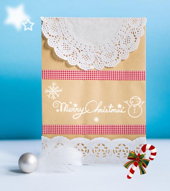 Kreative Weihnachtsgeschenke mit Tortenspitze