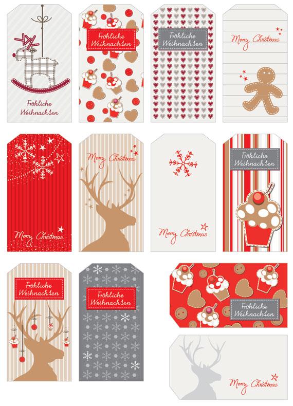 Kreative Anhänger für Weihnachtsgeschenke