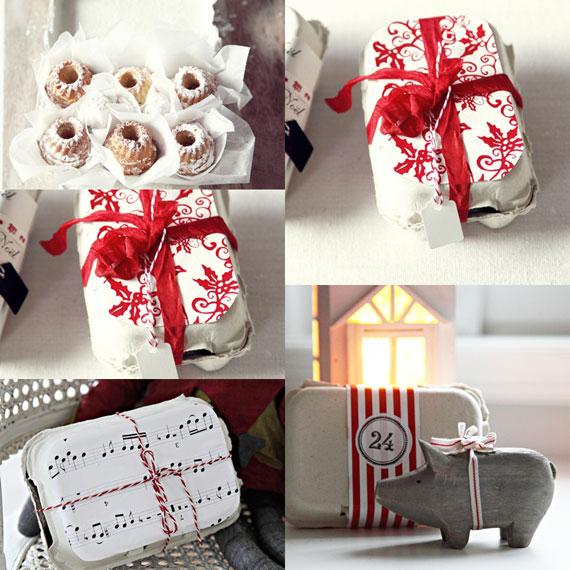 Kreative Weihnachtsgeschenke mit Eierkartons