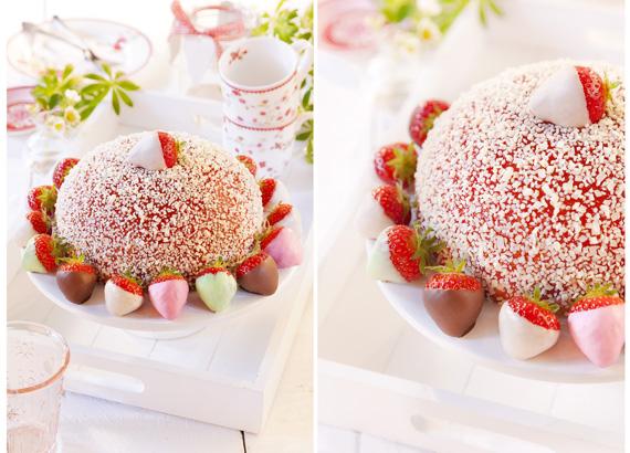Erdbeer-Torte-Kuppel-Sommer