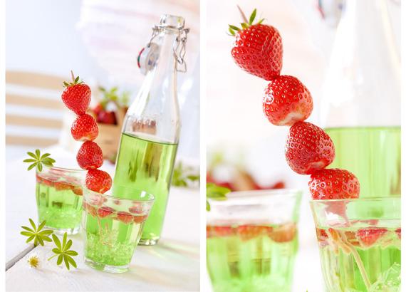 Erdbeer-Waldmeister-Bowle-Limonade