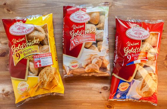 Unsere Goldstücke Conditorei Coppenrath und Wiese Burger Mania