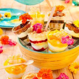 Rezept und Dekoidee für Desserts im Glas serviert