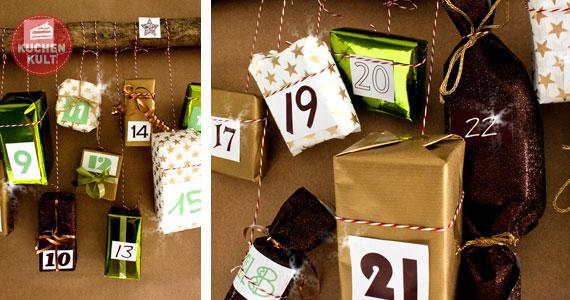 Geschenke Adventskalender basteln
