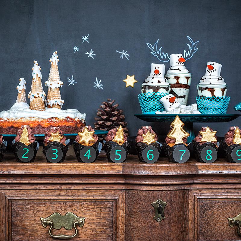 dessert f r weihnachten schnelle weihnachts cupcakes u v. Black Bedroom Furniture Sets. Home Design Ideas