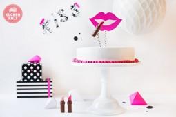 Lucky-Lips auf Sahne-Torte