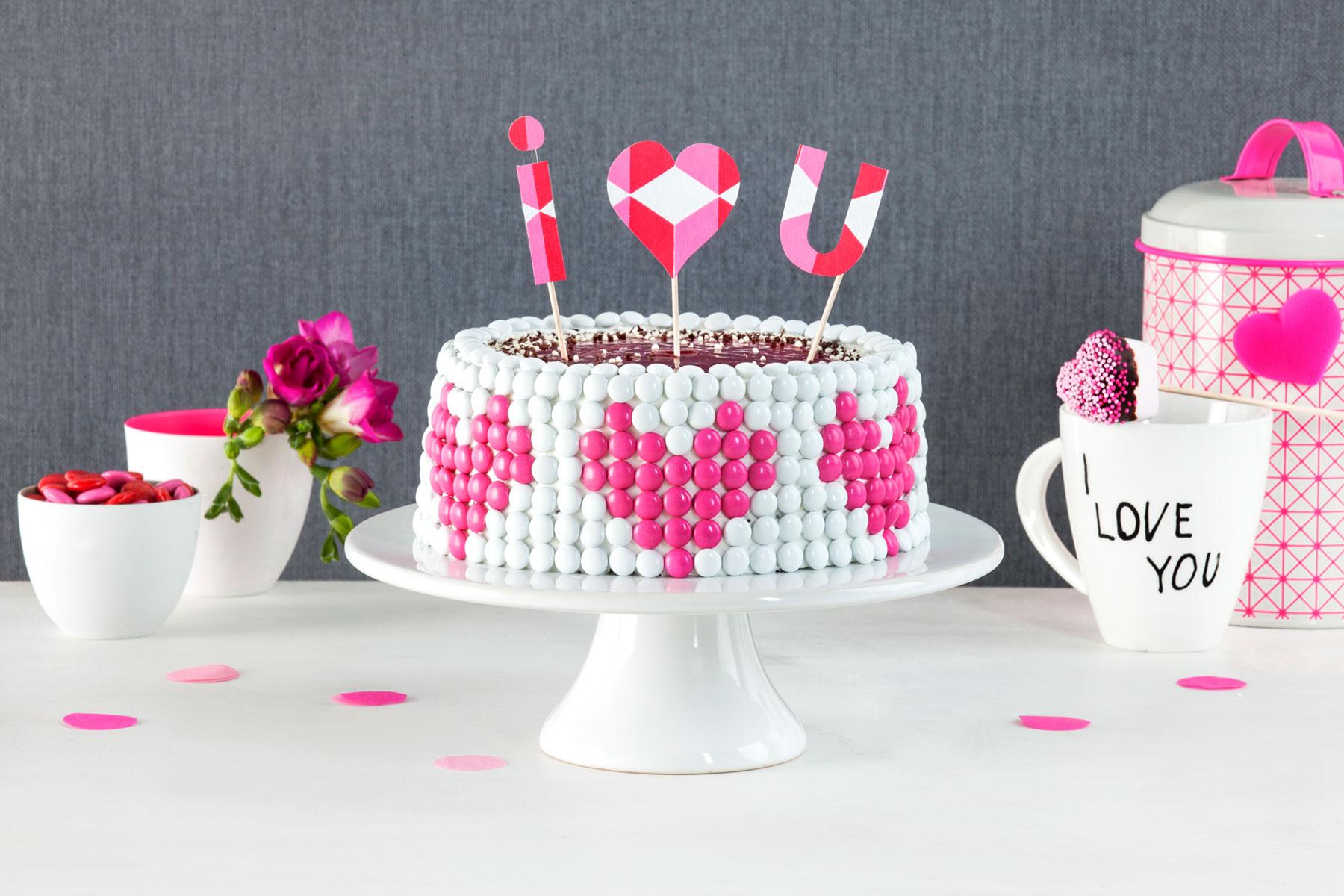Ideen Zum Valentinstag Torte Mit Schokolinsen Herz Rezept