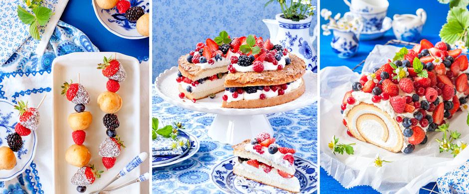 Köstliche Kuchen mit BeerenVery berry-licious!