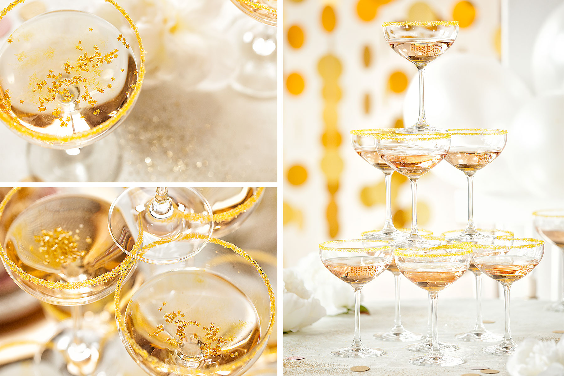 Goldene Dekoideen für den 20er Stil