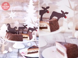 Weihnachtstorte fix und festlich verziert