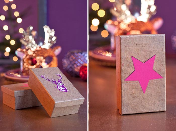 Geschenke selbst eingepackt als Deko-Möglichkeit für schnelle Marzipantorte