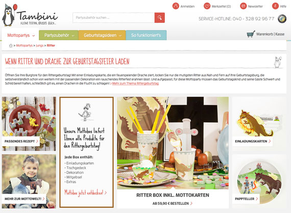 Tambibi-Ritter-Mottobox-Kuchenkult Gewinnspiel