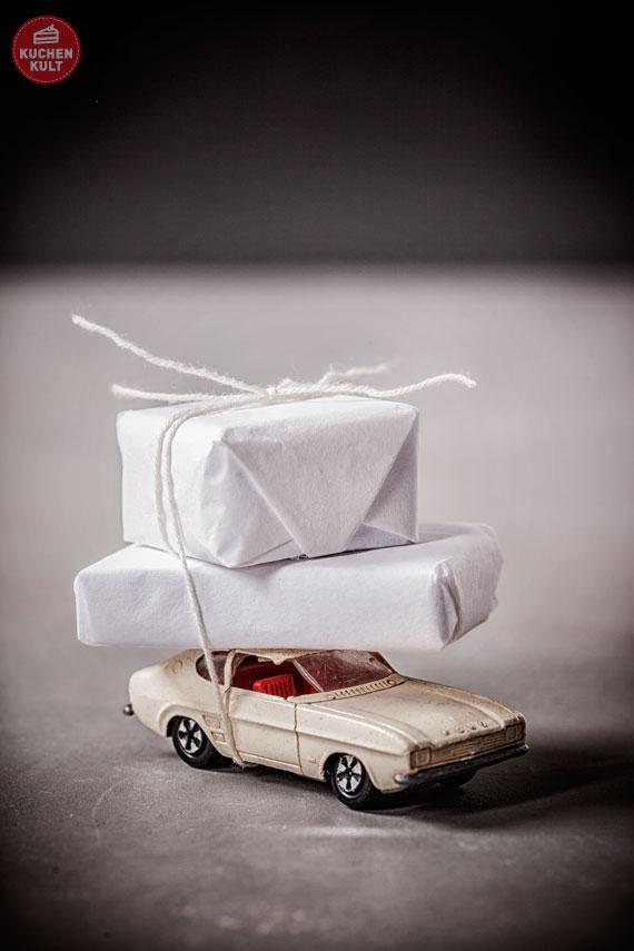 Geschenke verpacken für den Mann - Auto Idee