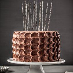 Geburtstagstorte Rezept und Deko mit Schokolade und Kerzen
