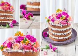 Hochzeitstorten Trend Teil 2: Naked Cake mit Flower Power