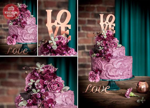 Hochzeitstorten Trend Teil 1: Urban Chic in Violett