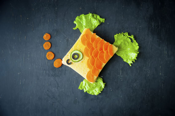 kreatives Essen-Kinderessen